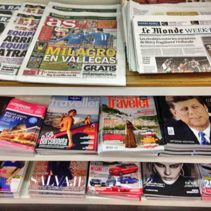 Secretaries Selecting Magazines